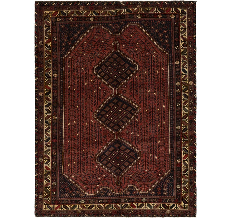 6' 9 x 9' 4 Ghashghaei Persian Rug