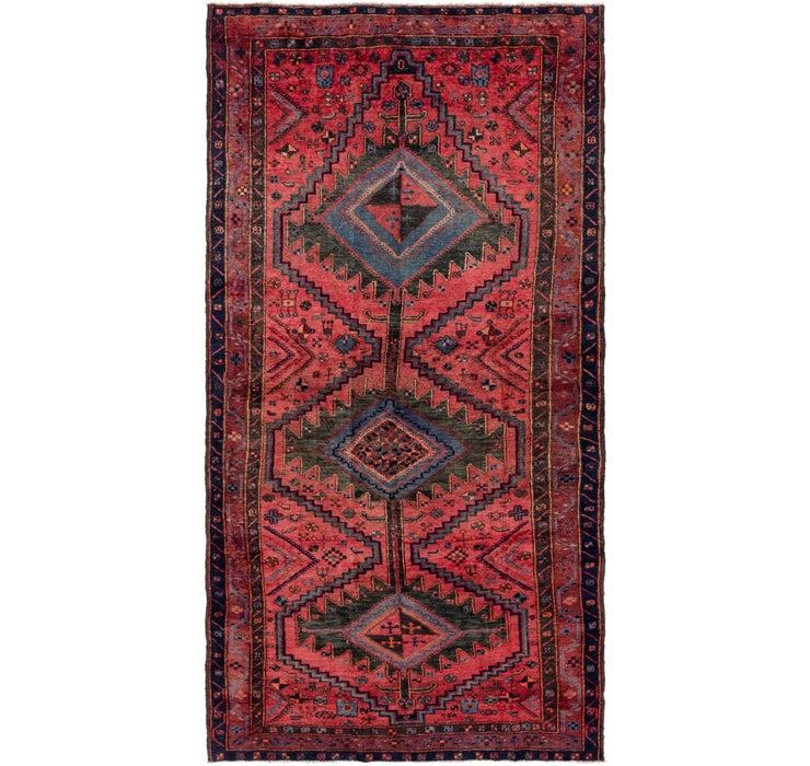 4' 10 x 9' 8 Zanjan Persian Runner Rug