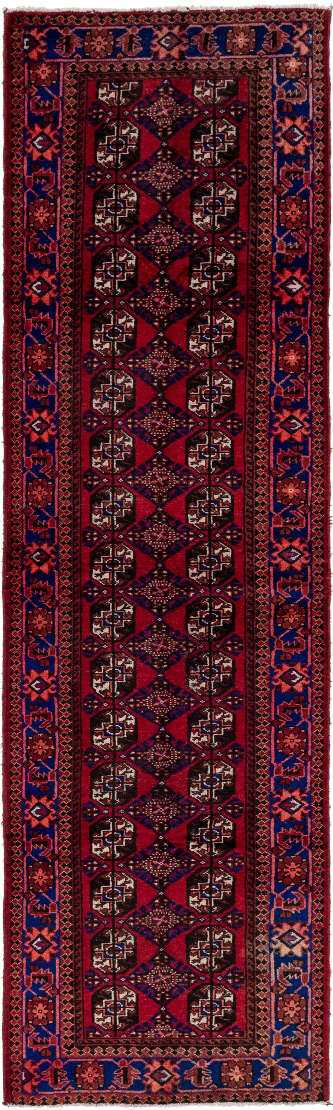 3' 4 x 12' 8 Balouch Persian Runner Rug main image