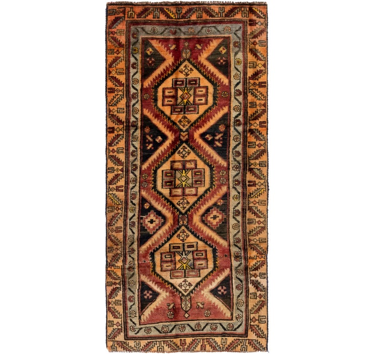 107cm x 245cm Shiraz Persian Runner Rug