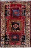 4' x 6' 6 Hamedan Persian Rug thumbnail
