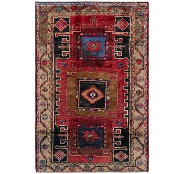 4' x 6' 6 Hamedan Persian Rug main image