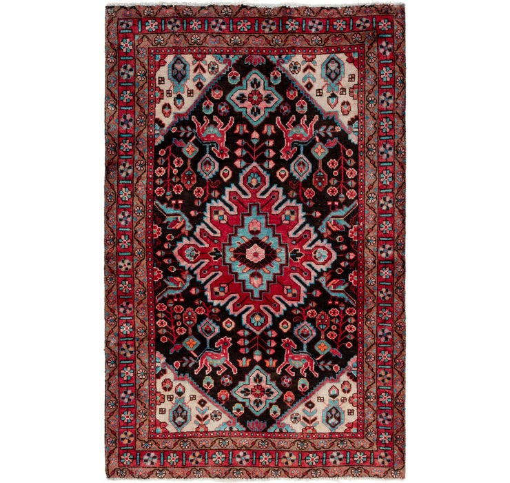 4' 3 x 6' 8 Gholtogh Persian Rug