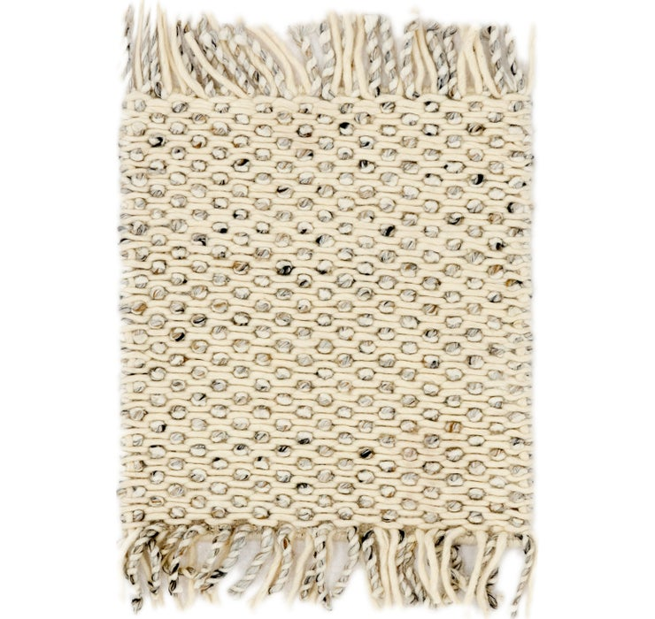 48cm x 50cm Hand Braided Square Rug