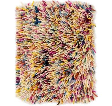 1' 2 x 1' 6 Multi-Tone Shag Square Rug main image