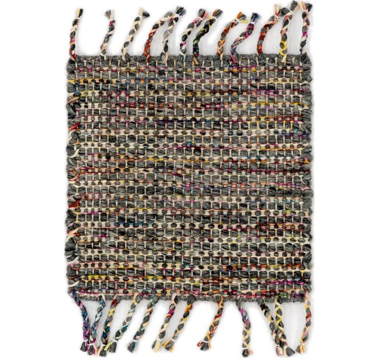Image of 48cm x 50cm Hand Braided Square Rug