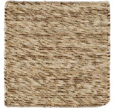 1' 8 x 1' 8 Hand Braided Square Rug