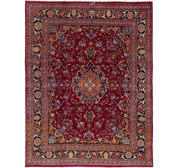 9' 7 x 12' 3 Mashad Persian Rug