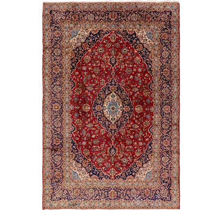 9' 5 x 14' 2 Kashan Persian Rug