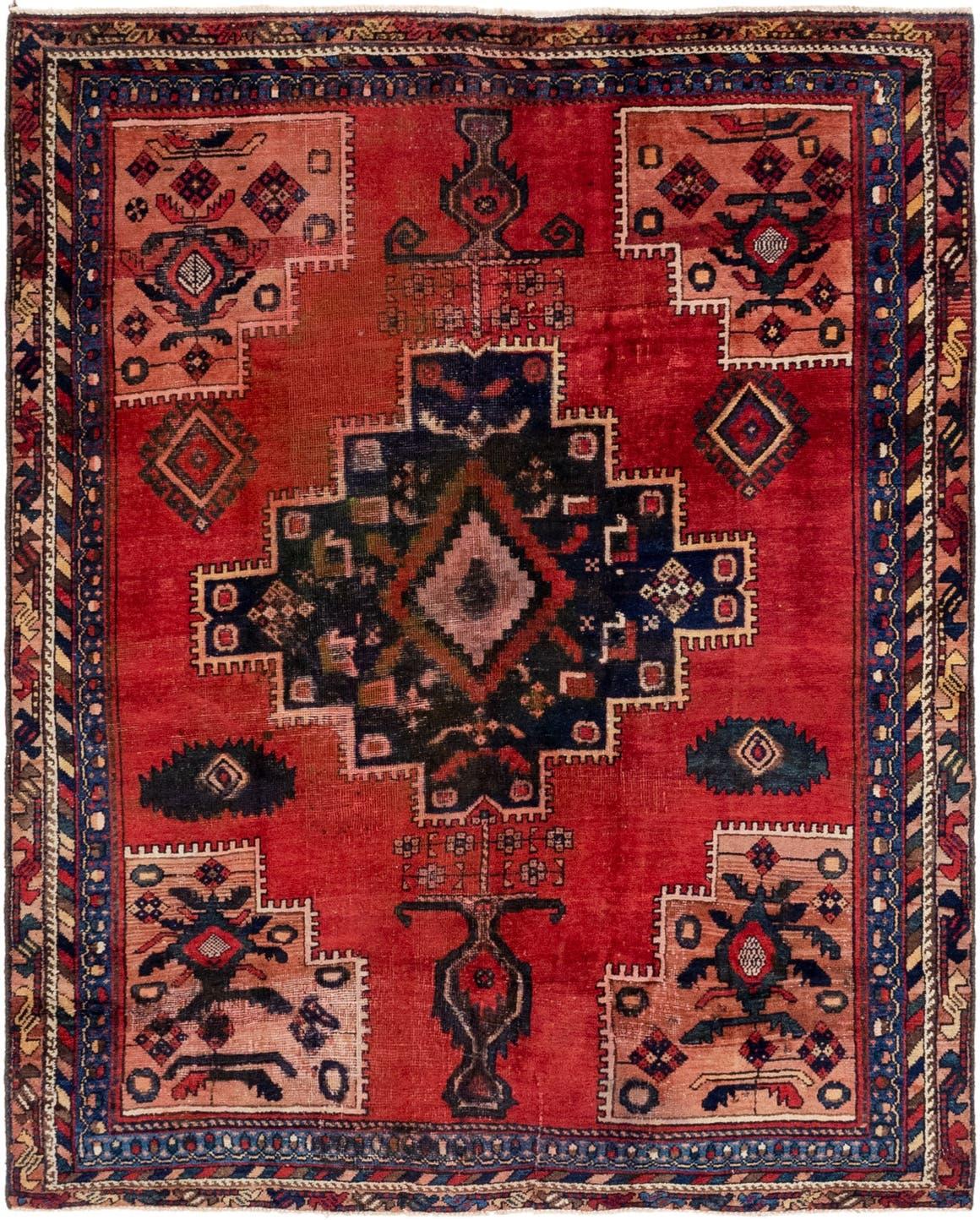 Red 5 X 6 Hamedan Persian Rug Rugs Com