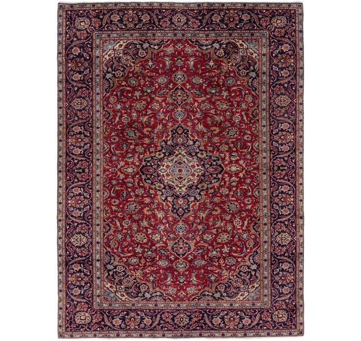 8' x 11' 4 Kashan Persian Rug
