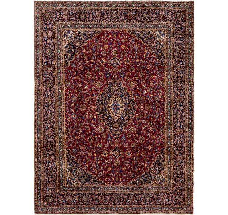 9' 3 x 12' 6 Kashan Persian Rug
