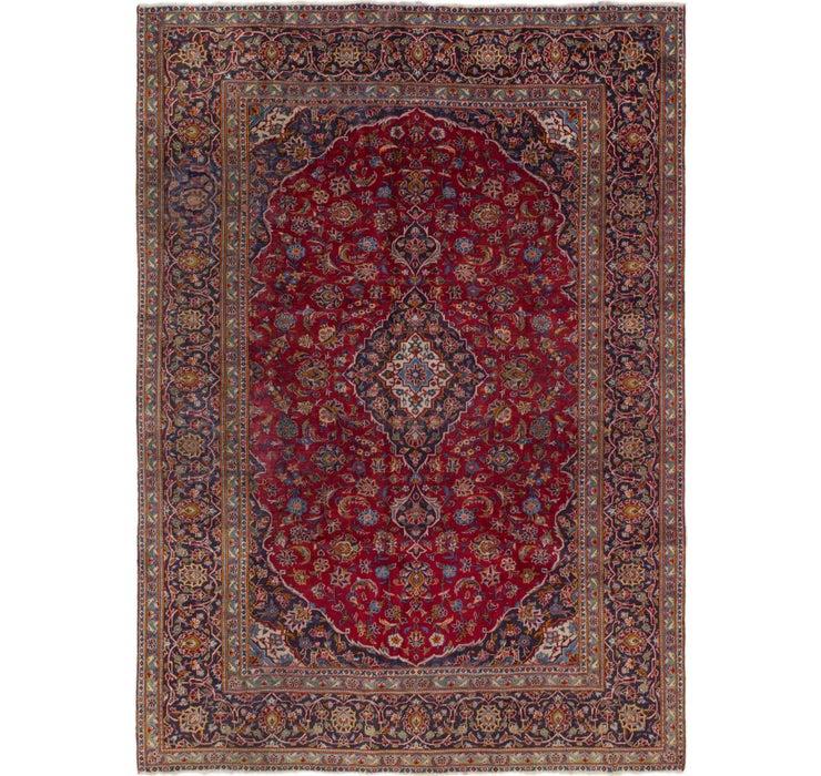 7' 7 x 10' 7 Kashan Persian Rug