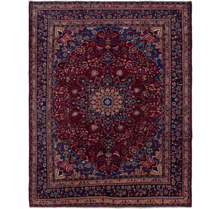 287cm x 375cm Mashad Persian Rug