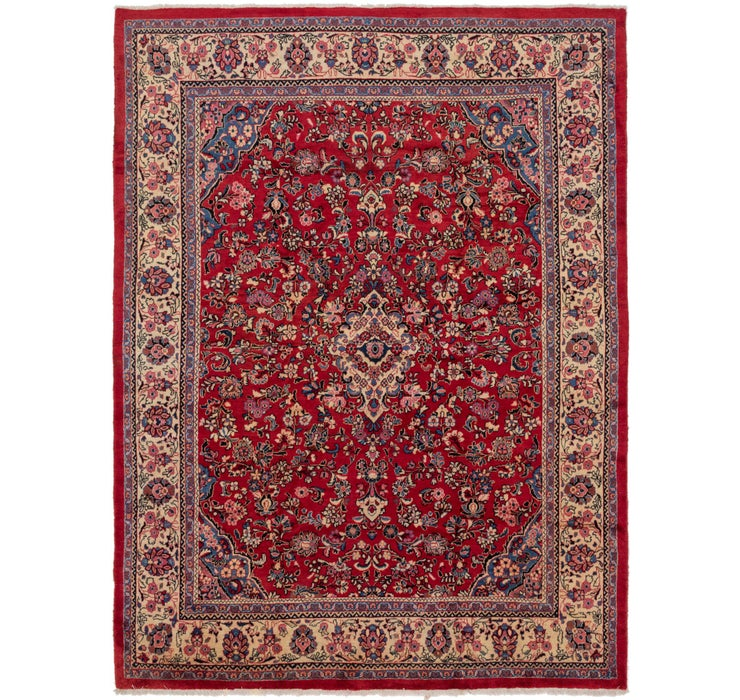 292cm x 405cm Meshkabad Persian Rug