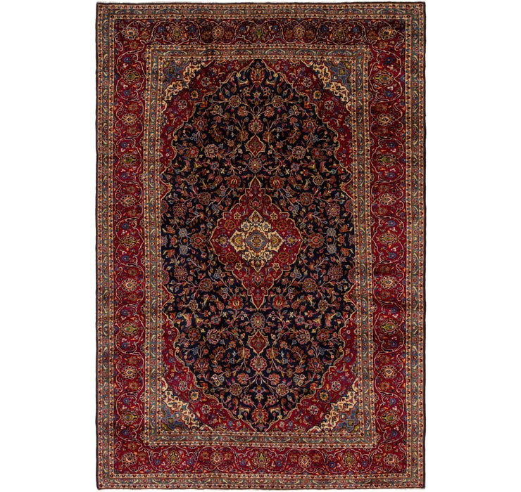 9' 6 x 14' 5 Kashan Persian Rug