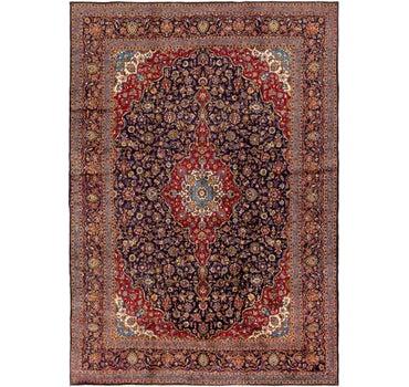 9' 10 x 14' Kashan Persian Rug main image