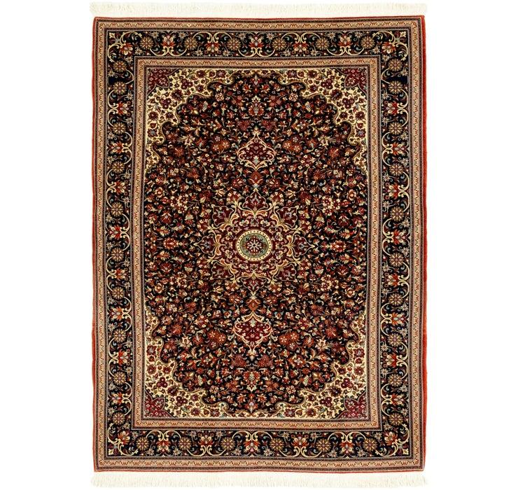 142cm x 195cm Qom Persian Rug