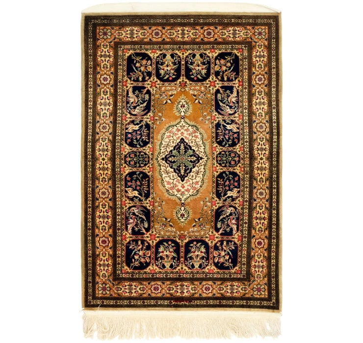 102cm x 165cm Qom Persian Rug