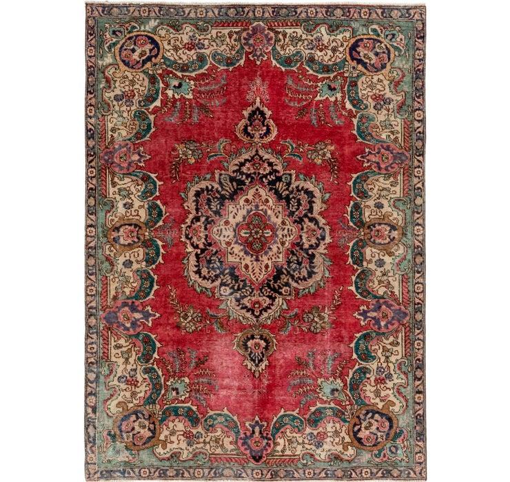7' x 9' 9 Tabriz Persian Rug
