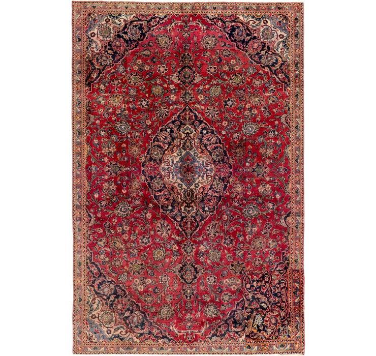 208cm x 312cm Mashad Persian Rug