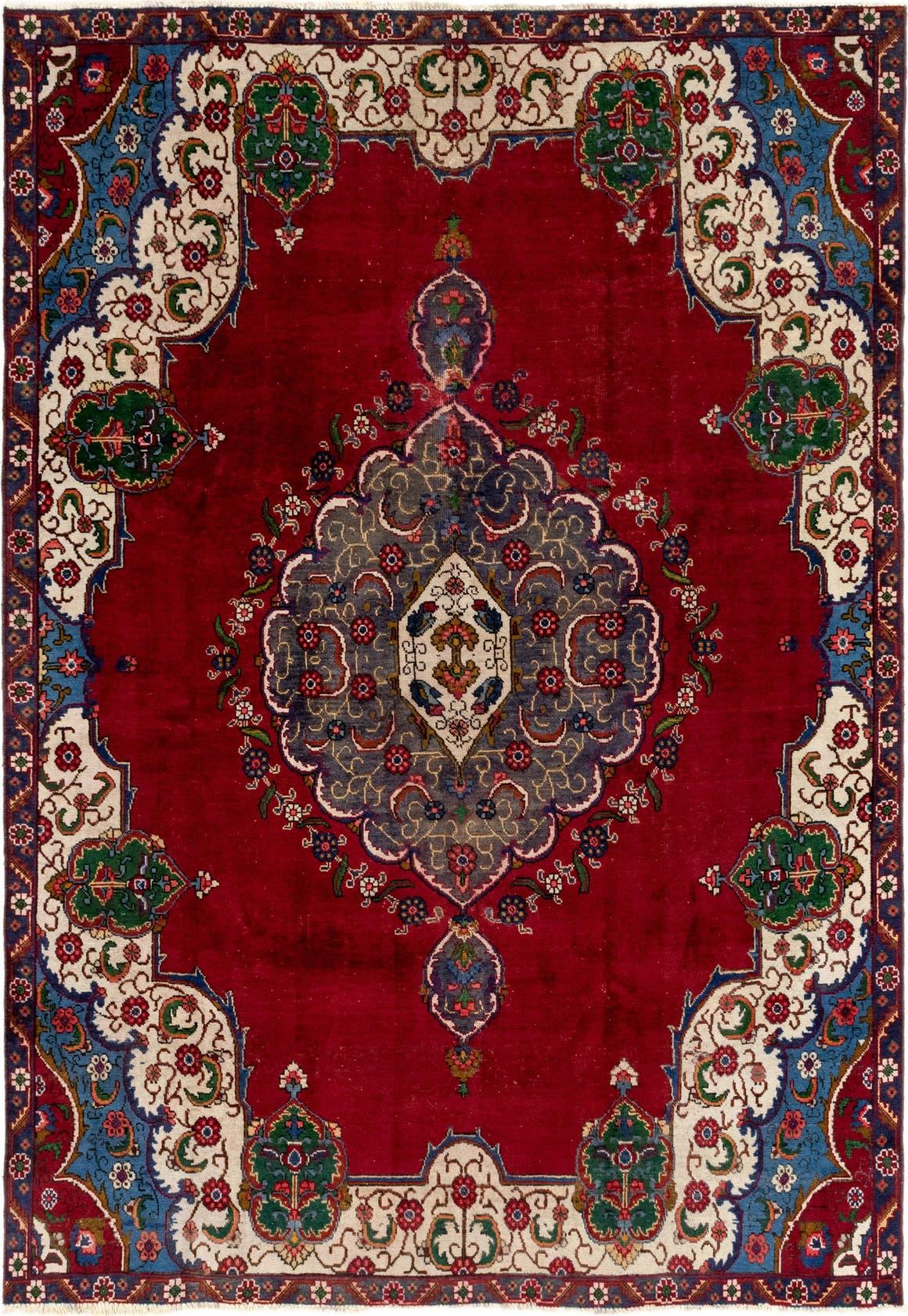 7' 6 x 10' 4 Tabriz Persian Rug main image