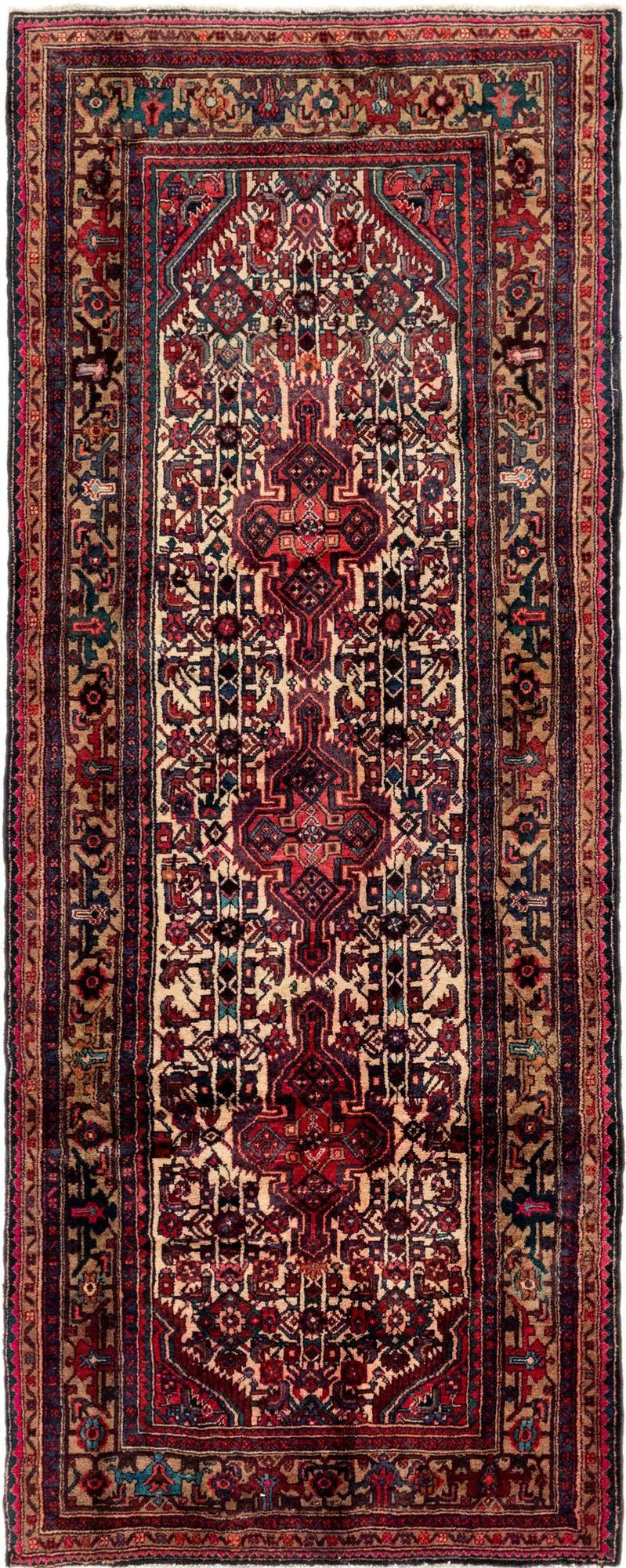 4' 5 x 11' Darjazin Persian Runner Rug main image