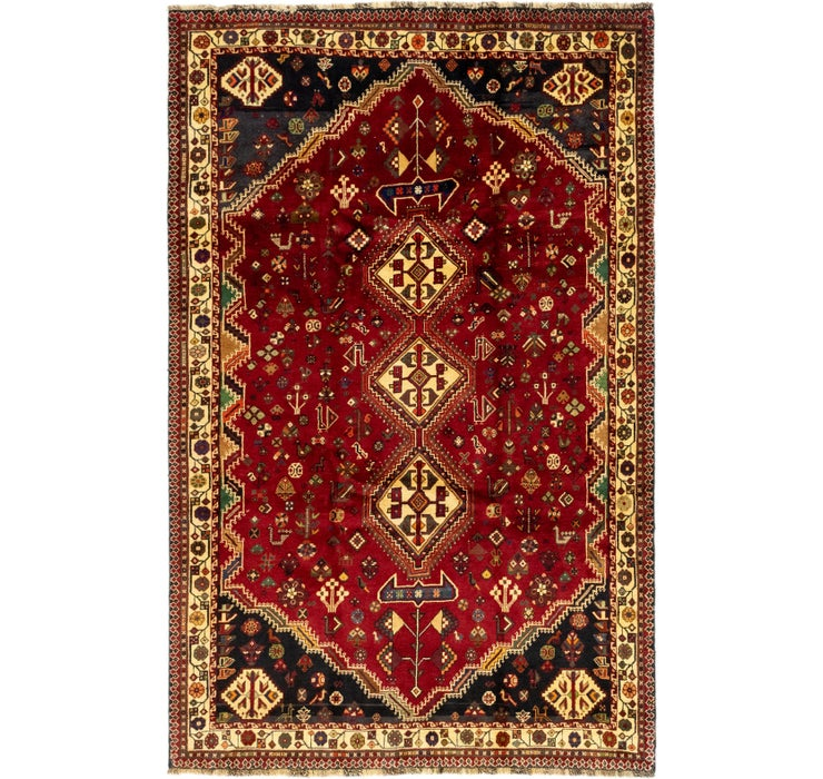 5' 10 x 9' 3 Ghashghaei Persian Rug