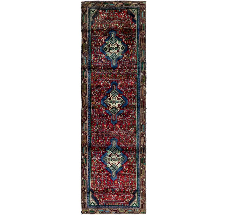 90cm x 292cm Mazlaghan Persian Runne...