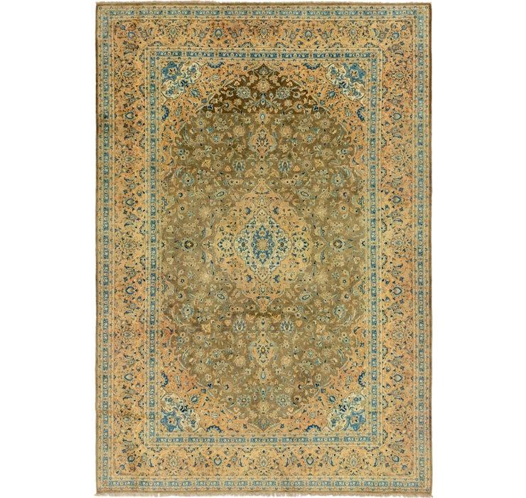 8' 7 x 12' 8 Kashan Persian Rug