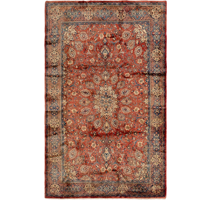 7' x 11' 6 Sarough Persian Rug