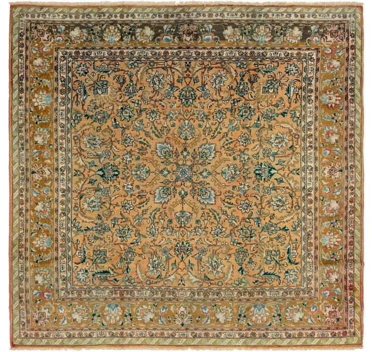 9' 10 x 10' 2 Tabriz Persian Square Rug