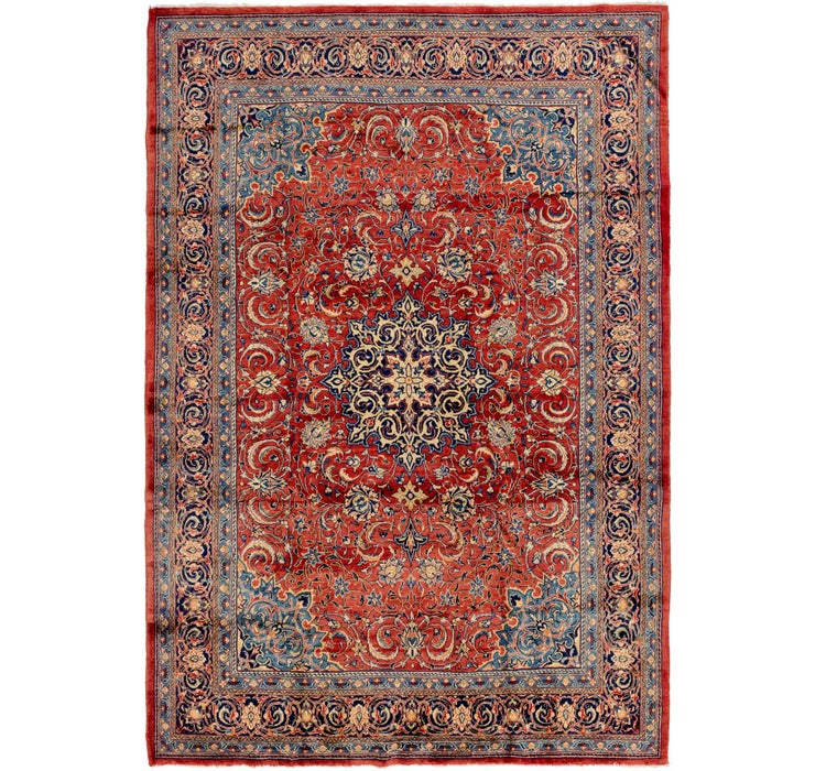 8' 7 x 12' 4 Sarough Persian Rug