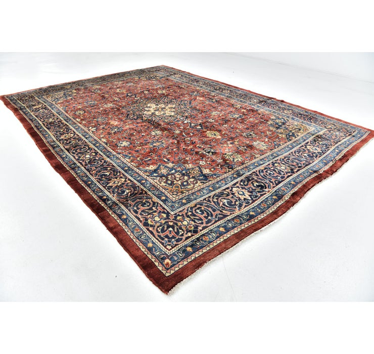 9' 2 x 12' 6 Sarough Persian Rug