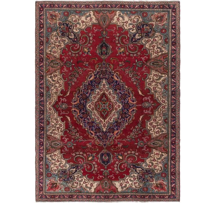 7' 2 x 9' 10 Tabriz Persian Rug