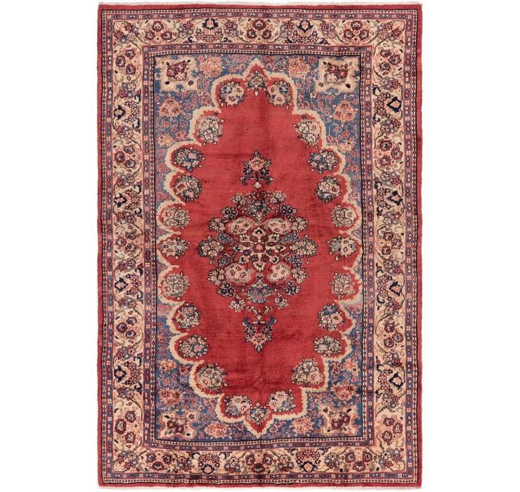208cm x 320cm Meshkabad Persian Rug