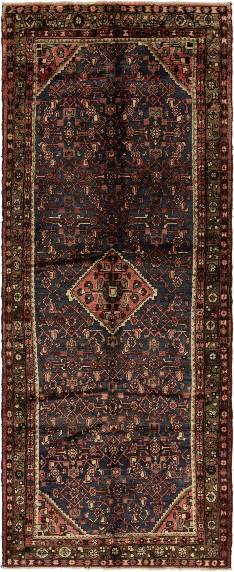 4' x 10' 5 Hossainabad Persian Runner Rug main image