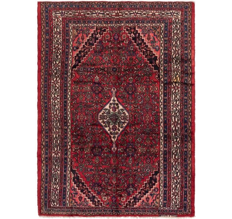 6' 9 x 9' 5 Hamedan Persian Rug