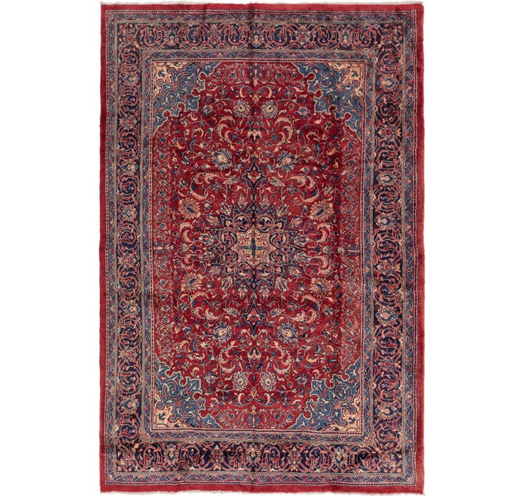 218cm x 328cm Sarough Persian Rug