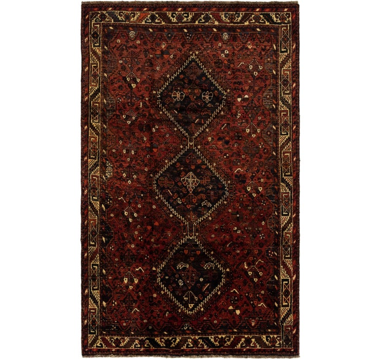 5' x 8' 8 Ghashghaei Persian Rug