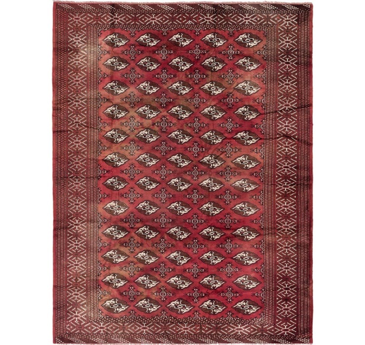 8' 6 x 10' 9 Torkaman Persian Rug
