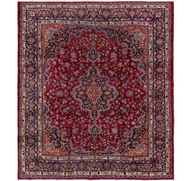 295cm x 330cm Mashad Persian Square Rug