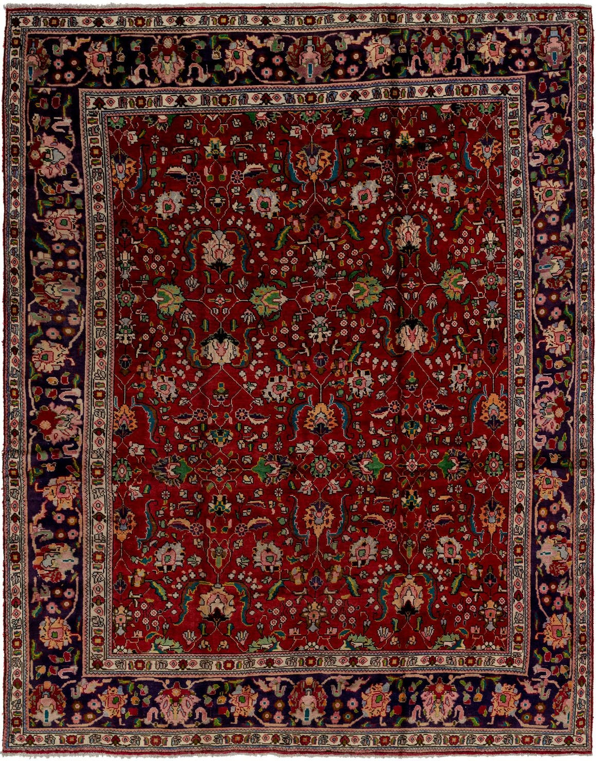 9' 10 x 13' Tabriz Persian Rug main image