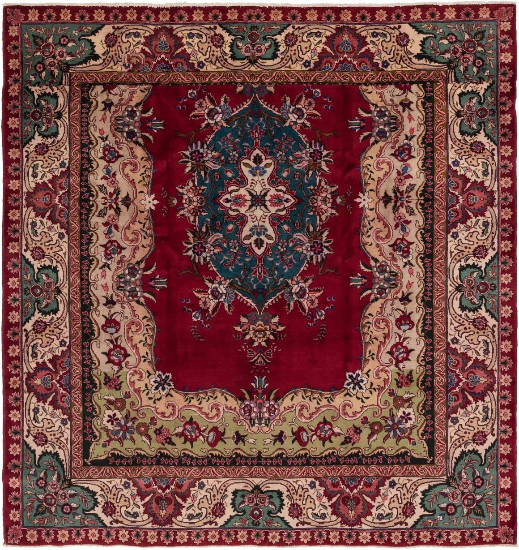 9' 9 x 10' Tabriz Persian Square Rug main image