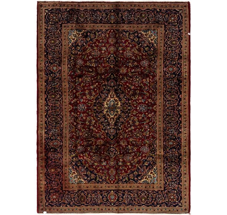 6' 7 x 9' Kashan Persian Rug