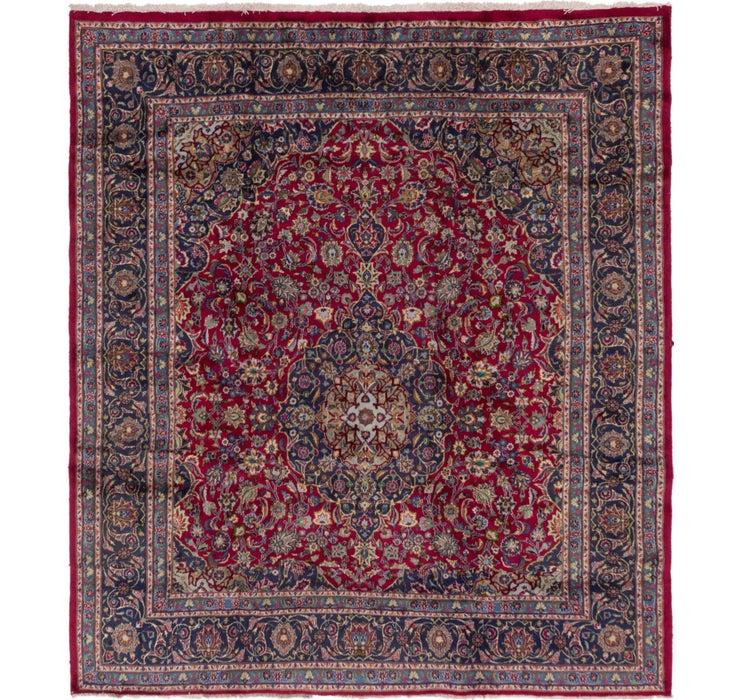 290cm x 325cm Mashad Persian Square Rug