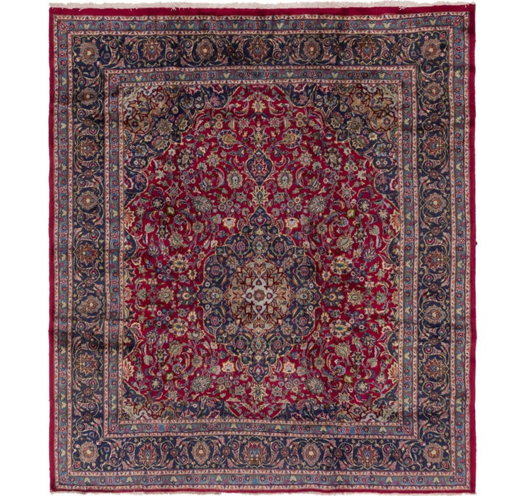 9' 6 x 10' 8 Mashad Persian Square Rug