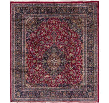 Image of 9' 6 x 10' 8 Mashad Persian Square Rug