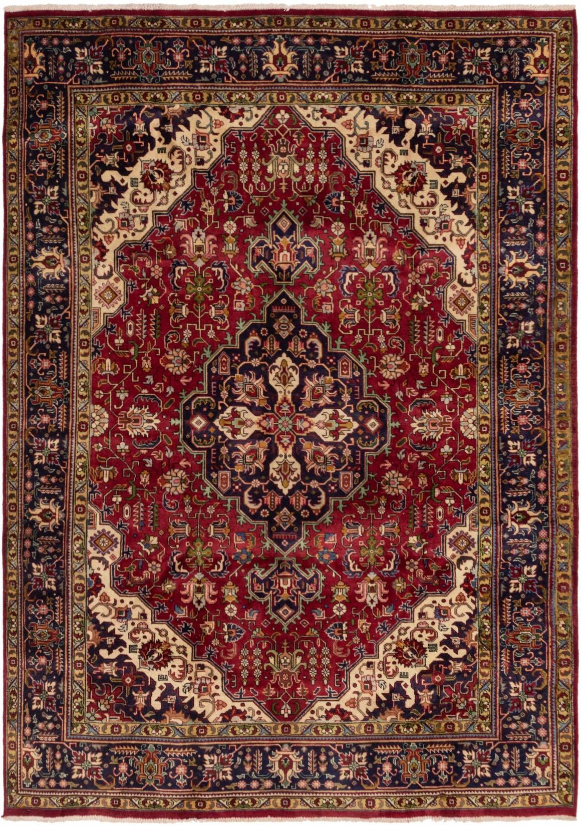 8' x 11' 3 Tabriz Persian Rug main image