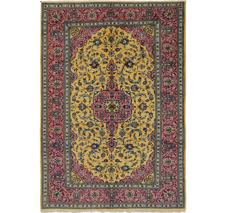 7' x 10' 2 Kashan Persian Rug
